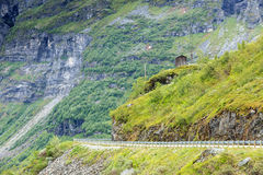 Road landscape in norwegian mountains Royalty Free Stock Photo