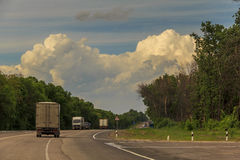 A road landscape Russian heartland Stock Photography