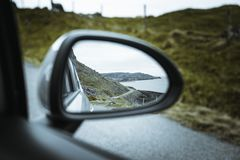 Road through the landscape of Scotland royalty free stock images