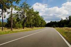Road. Landscape - Road somewhere in Ukraine Royalty Free Stock Images