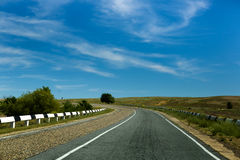 Road  landscape summer desert highway Stock Photo