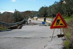 Road landslide Royalty Free Stock Images