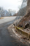 Road landslide Stock Photos