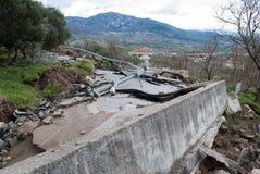 Road landslide Stock Image