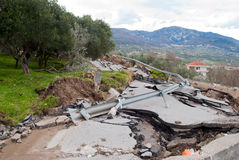Road landslide Stock Photography