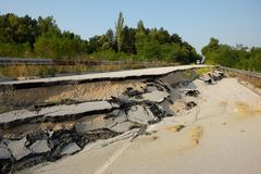 Road Landslide, Bulgaria royalty free stock photo