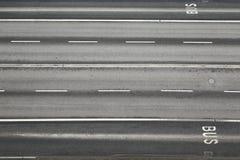 Road lanes. Lanes of an urban main road Royalty Free Stock Photography