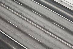 Road lanes. Lanes of an urban main road Stock Images