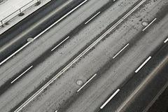 Road lanes. Lanes of an urban main road Royalty Free Stock Image