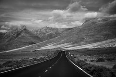 Road in Lanzarote Royalty Free Stock Image