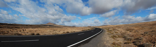 On the road, Lanzarote Stock Photos