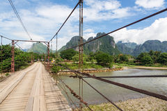 On the road in Laos Royalty Free Stock Image