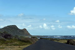 Road and last hill to Cape of Good Hope Royalty Free Stock Images