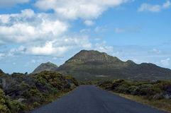 Road and last two hill to Cape of Good Hope Royalty Free Stock Photos