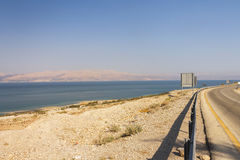 Road leading alongside the Dead sea Stock Photography