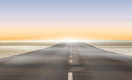 Road leading out to the horizon Stock Image