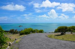 Road leading from Saint Gabriel to Port Sud-Est. Southern part of Rodrigues Island, Mauritius Stock Photo