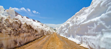 The Road Leading to Animas Forks, a Ghost Town in the San Juan Mountains of Colorado Stock Images