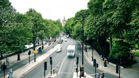 The road leading to Big Ben. Time lapse. stock video footage
