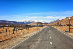The road leading to border of Mongolia Royalty Free Stock Photos