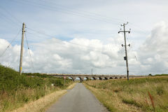 Road leading to bridge. Royalty Free Stock Images