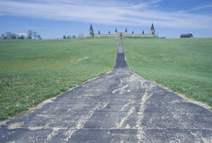 Road leading to a castle Stock Photography