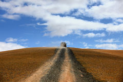 The Road Leading to Distant. The road leading to the distant grassland Royalty Free Stock Image