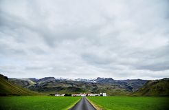 The road leading to the farm. stock photos