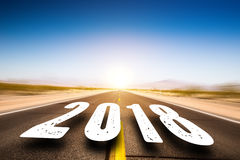 Road leading to 2018 Stock Images