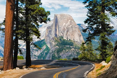 The road leading to Glacier Point in Yosemite National Park, Cal Royalty Free Stock Images