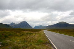Road to Glencoe, Scotland. The road leading to Glencoe in Scotland Stock Photo