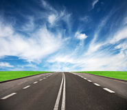 Road leading to the horizon. Stock Image