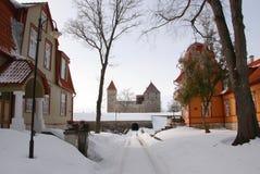 Kuressaare fortress. Road leading to Kuressaare fortress in Saaremaa Island, Estonia Royalty Free Stock Photo