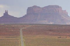 Road leading to Monument Valley Stock Image