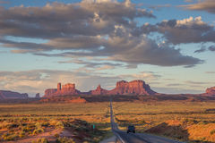 Road leading to Monument Valley in Arizona Stock Photography