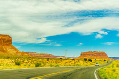A road leading to Monument Valley Royalty Free Stock Photos