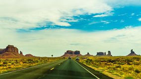 A road leading to Monument Valley Stock Images