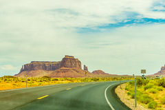 A road leading to Monument Valley Royalty Free Stock Photography