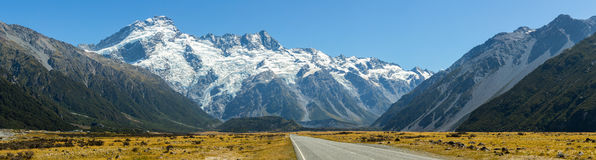 Road leading to Mount Cook Stock Images