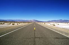Road Leading To Mountains Royalty Free Stock Image