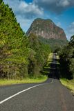 Road leading to Mt Tibrogargan, Glasshouse Mountains royalty free stock images