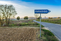 The road leading to paradise Stock Photography