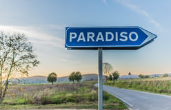 The road leading to paradise Stock Image