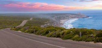 Road leading to Remarkable Rocks among native coastal vegetation Stock Photography