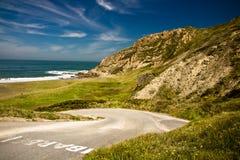 Road leading to sandy azkorri beach Royalty Free Stock Image