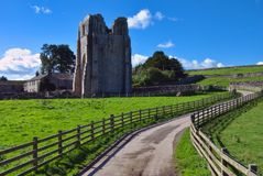 Road leading to Shap Abbey Royalty Free Stock Photography
