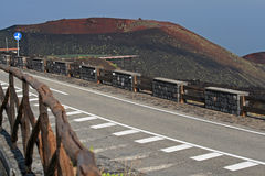 Road leading to the top of Mount Etna Stock Photo