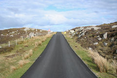 Road leading uphill Royalty Free Stock Photo