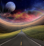 Road leads into distance royalty free illustration