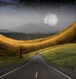 Road leads to Mountain Royalty Free Stock Photo